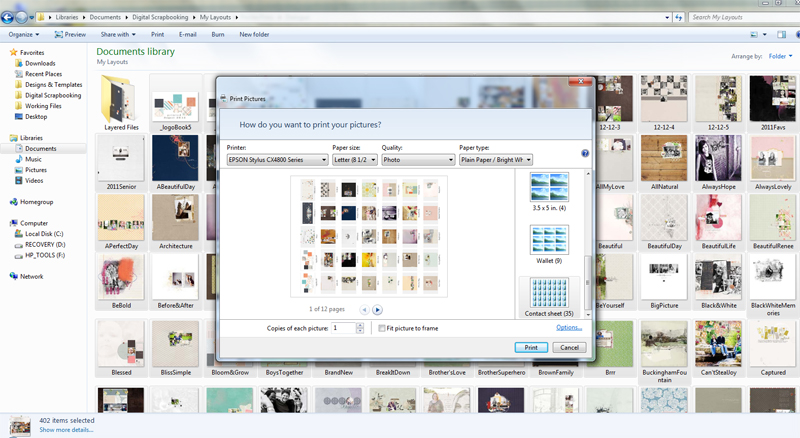 Thumbnail Priting Screenshot