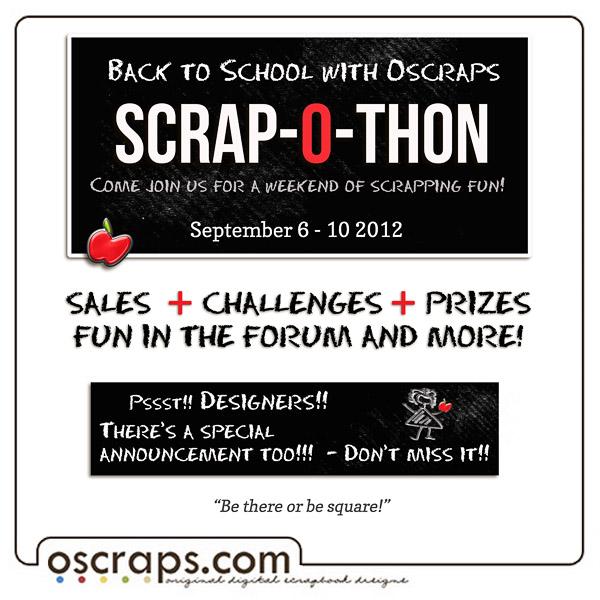 Oscraps Scrap-O-Thon