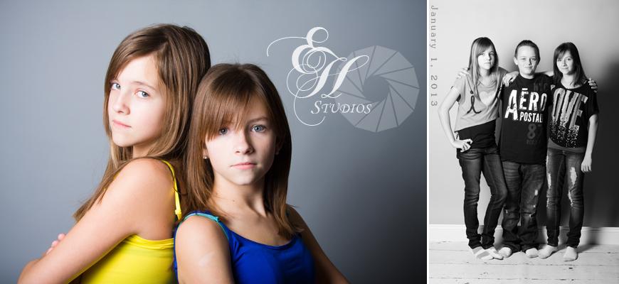 Hanna, Savanna, Kenny, Sisters, Cousins, child photography, studio photography, portrait photography, Elisa Hubbard Studios