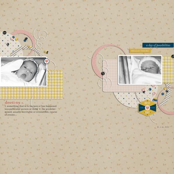 One Little Bird Designs + Template Scrapping