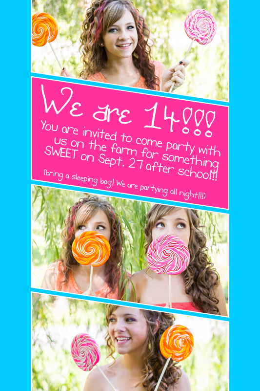 Candy Themed Party Invitation