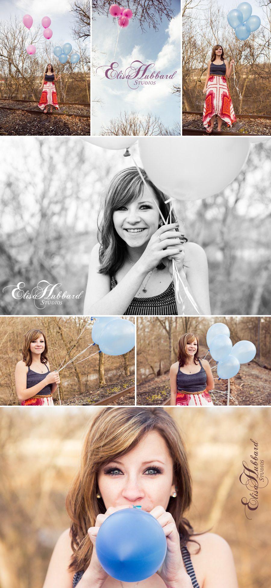 Elisa Hubbard Studios, On-Location Photography, Gender Reveal, Balloons