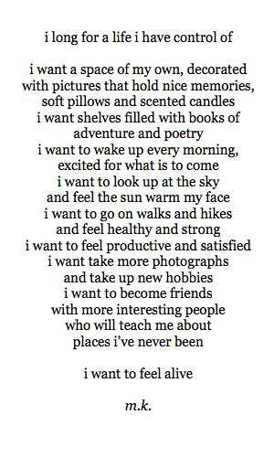 I Want poem by M.K.