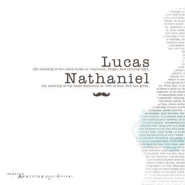 Lucas Nathaniel, Name Meaning, Paislee Press