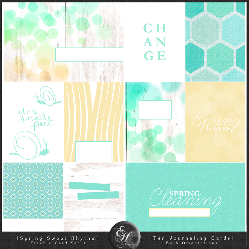 EHStudios - Spring Sweet Rhythm - Free Journaling Cards