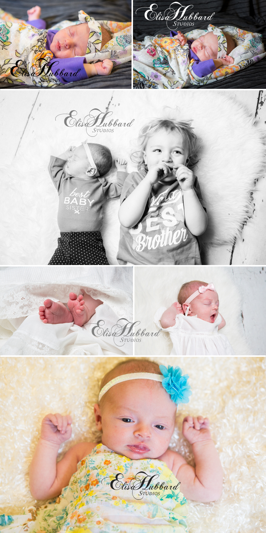 Elisa Hubbard Studios, Child Photography, Newborn Photography, Siblings, Studio Photography