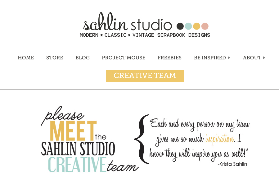 Sahlin Studio Creative Team
